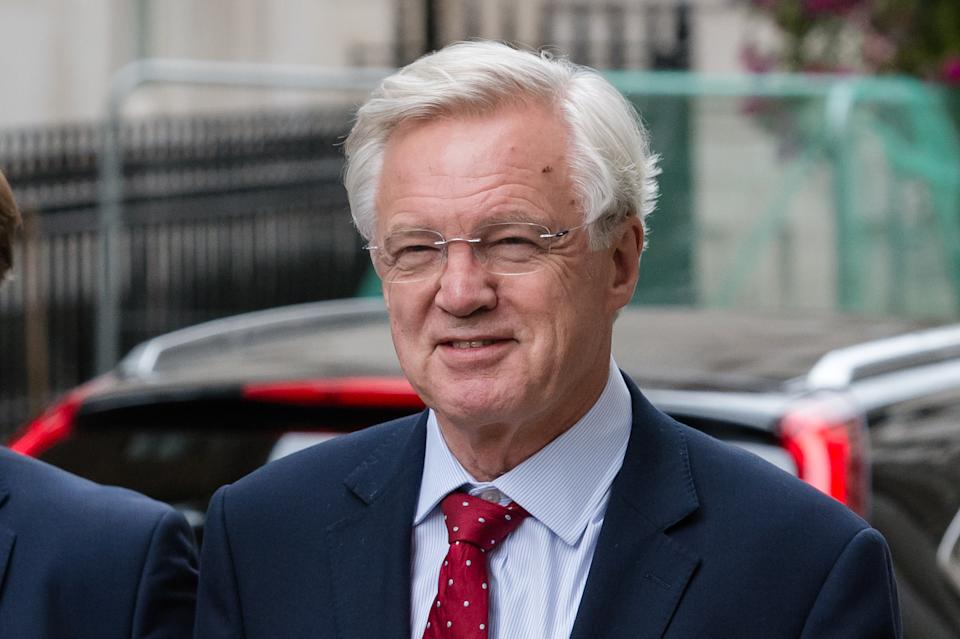 LONDON, UNITED KINGDOM - SEP 02: David Davis MP arrives in Downing Street on 02 September, 2019 in London, England as Prime Minister Boris Johnson hosts a garden party for all Tory MPs. A cross-party alliance of MPs is expected to attempt to legislate against no-deal Brexit as MPs return to the House of Commons tomorrow before Parliament is prorogued next week until the Queens Speech on 14 October, just over two weeks before the UK is set to leave the EU. (Photo credit should read Wiktor Szymanowicz / Barcroft Media via Getty Images)