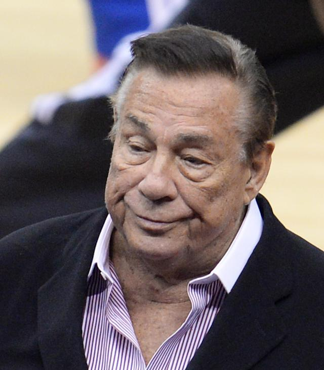 Los Angeles Clippers owner Donald Sterling at a game at Staples Center on April 21, 2014 (AFP Photo/Robyn Beck)