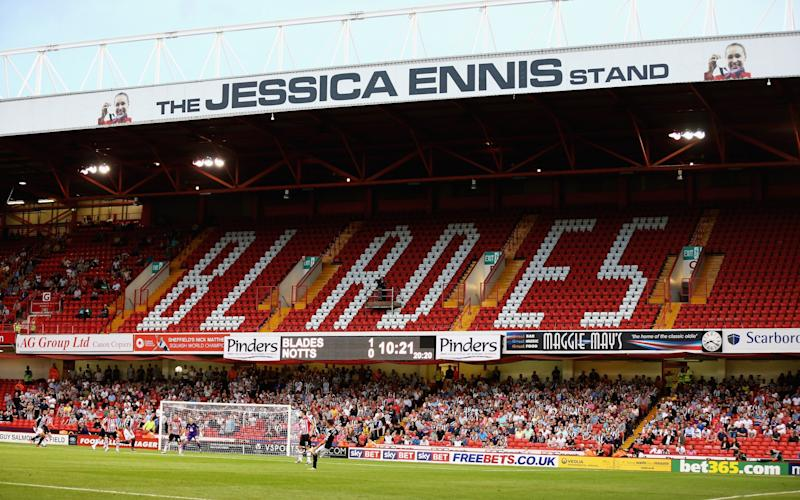 The Jessica Ennis stand at Bramall Lane - Credit: Getty Images