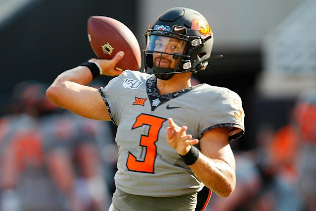 So far Spencer Sanders and Oklahoma State have looked very on-brand for a Mike Gundy team. (Getty)