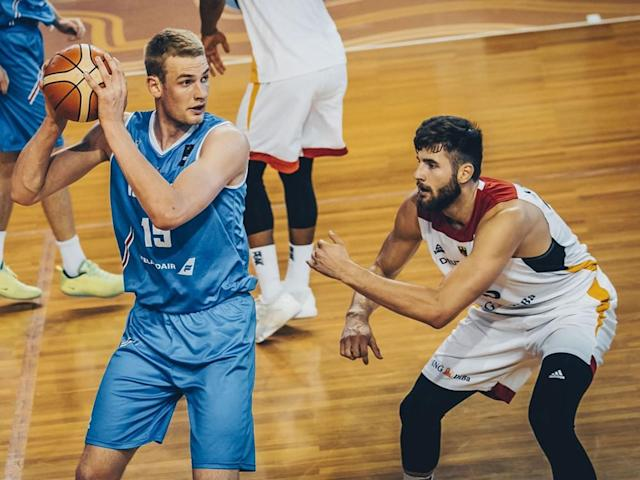 Tryggvi Hlinason competes for Iceland at the 2017 FIBA under-20 European Championships. (FIBA)
