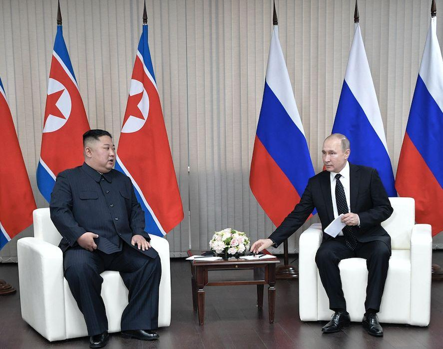 The Russian president said that the Kremlin would like to help support efforts to resolve the North Korean nuclear standoff (AP)