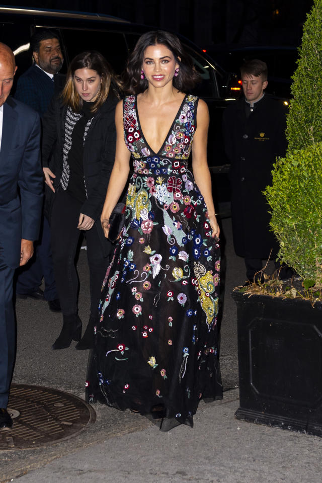 <p>In her first public outing since announcing her split from Channing Tatum, Jenna looked stunning in plunging, floral Zuhair Murad gown at the St. Jude's Gala.<em> [Photo: Getty]</em> </p>