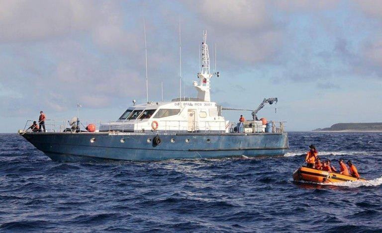 File photo of a Philippines Coast Guard vessel on patrol against illegal shipping. The Philippines admitted on May 10, 2013 that its coastguard fired at a Taiwanese fishing boat in an incident that authorities in Taipei said left a crewman dead and triggered widespread outrage on the island