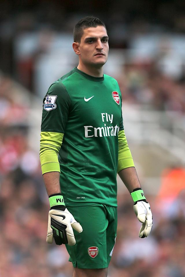 File photo dated 29/09/2012 of Vito Mannone, Arsenal goalkeeper.Issue date: Wednesday July 3, 2013. Sunderland have confirmed the arrival of Arsenal goalkeeper Vito Mannone. See PA story SOCCER Sunderland. Photo credit should read: Nick Potts/PA Wire