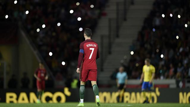 Joao Cancelo scored a dramatic late own-goal to give Sweden a 3-2 win over Portugal in Cristiano Ronaldo's Funchal homecoming.