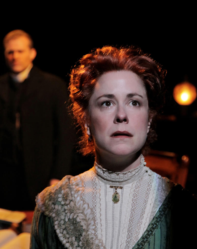 """In this theater publicity image released by Philip Rinaldi Publicity, Kate Fry is shown in a scene from """"A Minister's Wife,"""" in New York. (AP Photo/Philip Rinaldi Publicity, Paul Kolnik)"""