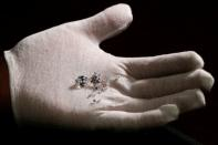Aether diamonds made from captured CO2 are pictured at the RFG Manufacturing Riviera jewelry design facility in New York