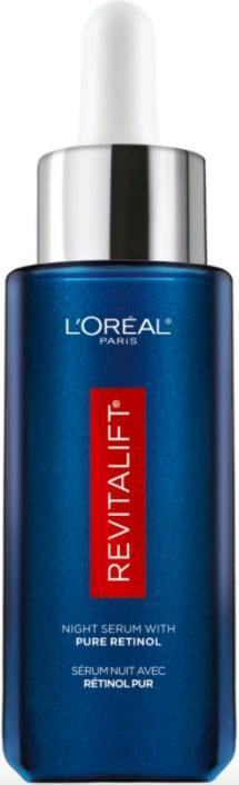 <p>The <span>L'Oreal Paris Revitalift Derm Intensives Night Serum with 0.3% Pure Retinol</span> ($28) is formulated with the brand's highest concentration of retinol yet to fight signs of aging like fine lines and uneven skin tone.</p>