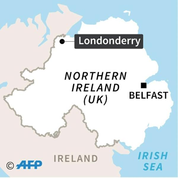 Map of N Ireland locating Derry/Londonderry