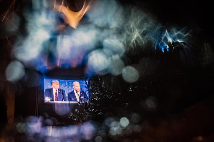 The debate on Tuesday, Sept. 29, 2020 between President Donald Trump and Joe Biden strengthened impressions abroad that the United States has retreated from the global stage. (Jordan Gale/The New York Times)