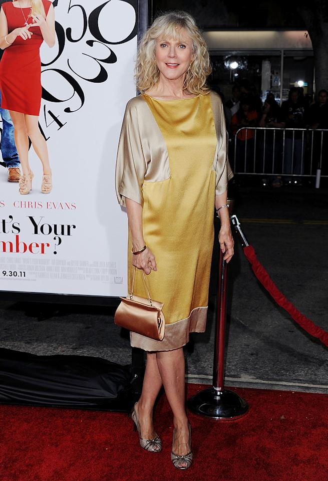 "<a href=""http://movies.yahoo.com/movie/contributor/1800010706"">Blythe Danner</a> at the Los Angeles premiere of <a href=""http://movies.yahoo.com/movie/1810179802/info"">What's Your Number?</a> on September 19, 2011."