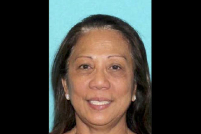 <p>This undated photo provided by the Las Vegas Metropolitan Police Department shows Marilou Danley. Danley, 62, returned to the United States from the Philippines on Tuesday night, Oct. 3, 2017, and was met at Los Angeles International Airport by FBI agents, according to a law enforcement official. Authorities are trying to determine why Stephen Paddock, Danley's boyfriend, killed dozens of people in Las Vegas Oct. 1, in the deadliest mass shooting in modern U.S. history. (Photo: Las Vegas Metropolitan Police Department via AP, File) </p>