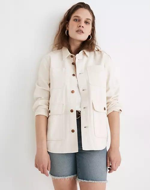 <p>Swap out predictable denim for this cool <span>Madewell Ashford Chore Jacket</span> ($135) this spring - it still looks great over dresses and skirts.</p>