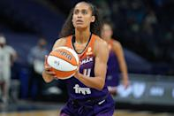 """<p>The four-time WNBA all-star will make her Olympic debut in Tokyo this summer. Diggins-Smith, who plays for Phoenix Mercury, played the 2018 season while expecting her first child, a son named Rowan """"Seven"""" Smith, whom she welcomed in April 2019 with husband Daniel Smith. </p>"""