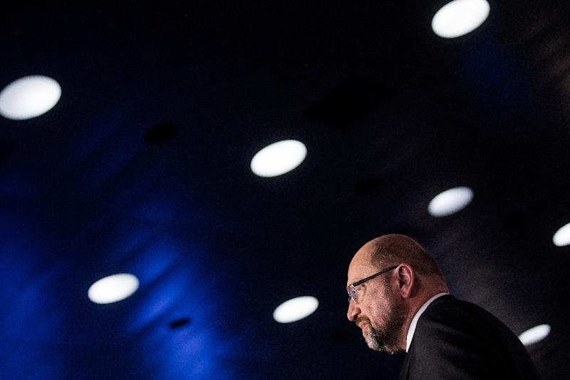 "The outcome is a reprieve for SPD leader Martin Schulz who had staked his political future on a ""yes"" vote (AFP Photo/Rolf Vennenbernd)"