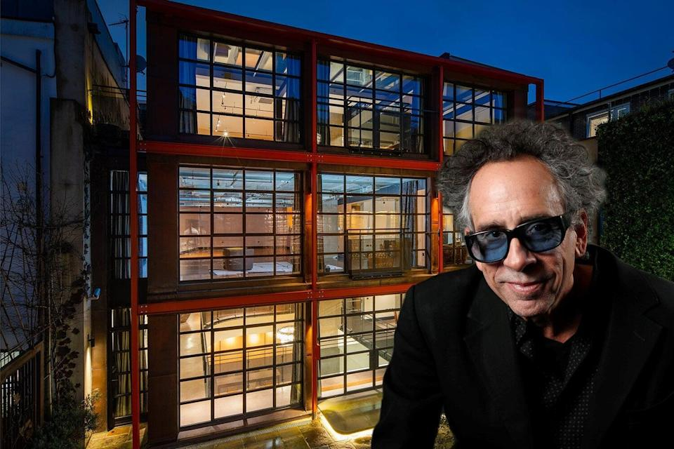<p>Tim Burton rented Eglon House in Primrose Hill for several years from 2016</p>