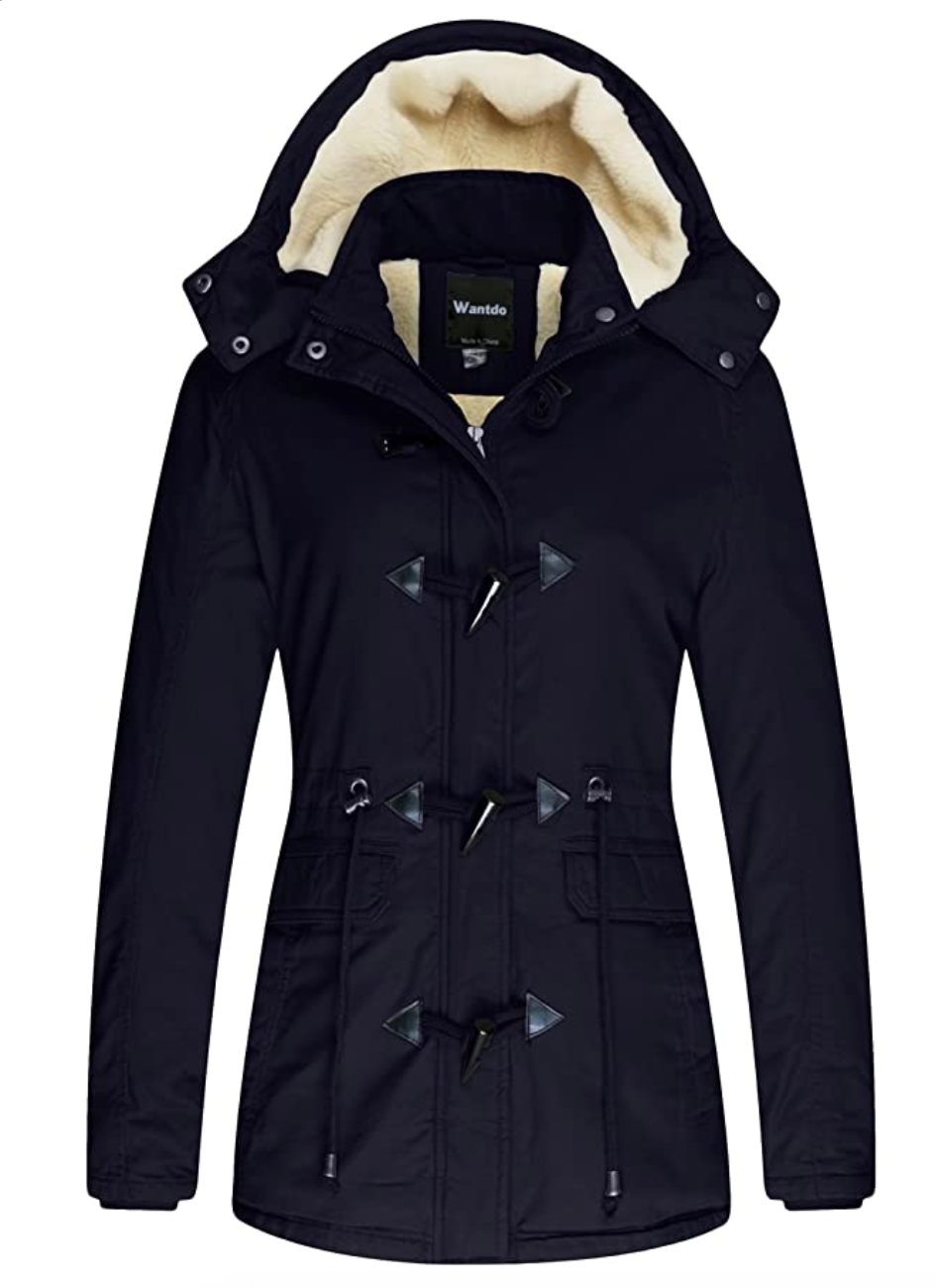 Wantdo Women's Winter Coat Cotton Parka Jacket. Image via Amazon.