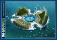 Lilypad is modeled on anticipation particular to the Jules Verne's literature, the alternative possibility of a multicultural floating Ecopolis whose metabolism would be in perfect symbiosis with the cycles of the nature.