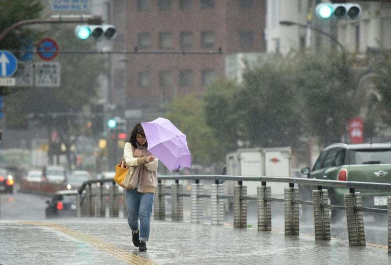 According to Japan's meteorological agency, the storm packed gusts up to 216 kilometres (134 miles) per hour Sunday night in the Pacific south of Japan and may hit Tokyo and surrounding regions early Monday
