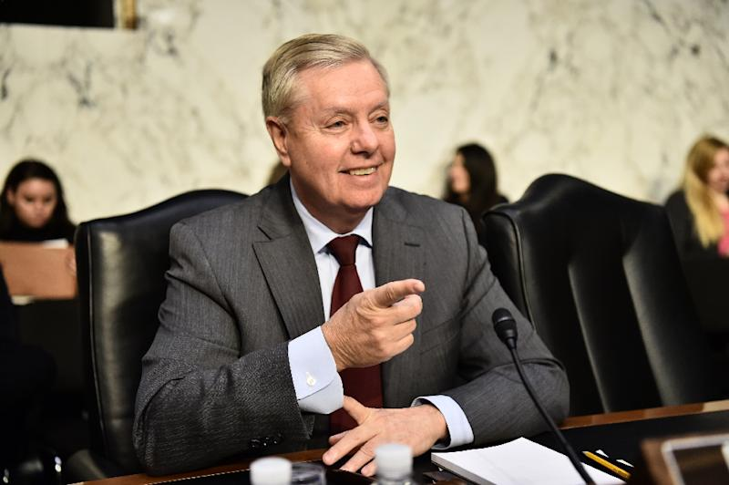 Senator Lindsey Graham, usually a close ally of President Donald Trump, has broken with him on Saudi Arabia after the killing of dissident journalist Jamal Khashoggi (AFP Photo/Nicholas Kamm)