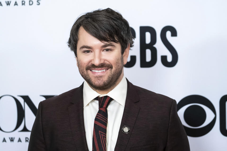 "Alex Brightman participates in the 73rd annual Tony Awards ""Meet the Nominees"" press day at the Sofitel New York on Wednesday, May 1, 2019, in new York. (Photo by Charles Sykes/Invision/AP)"