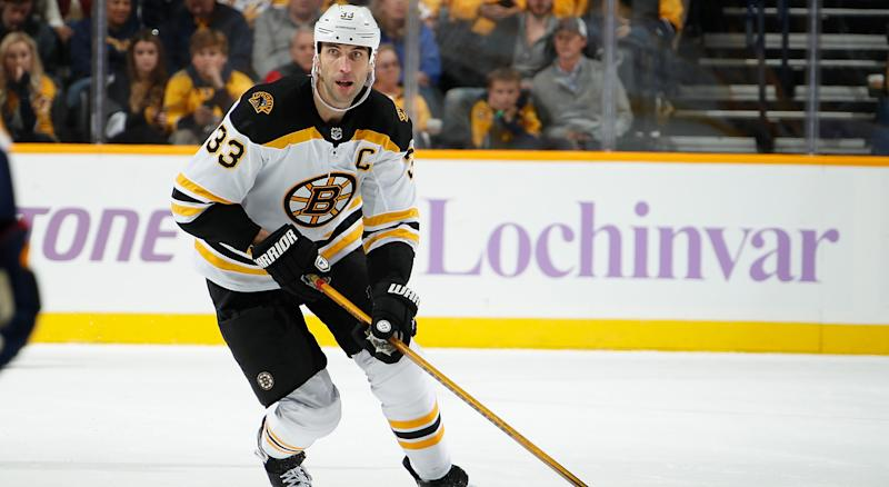 Chara going back to Boston, out indefinitely for Bruins after leg injury