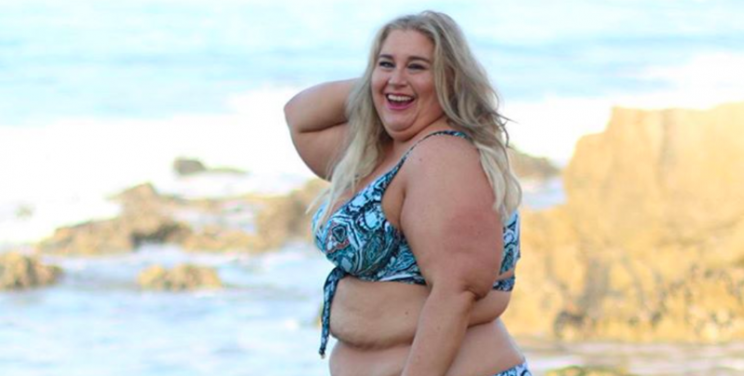 plus size woman rocks string bikini for the 1st time in 25. Black Bedroom Furniture Sets. Home Design Ideas