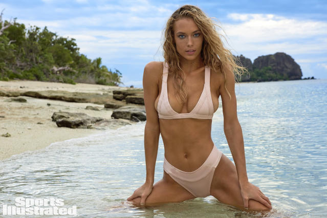 <p>Hannah Ferguson was photographed by Yu Tsai in Fiji. Swimsuit by Are You Am I. </p>