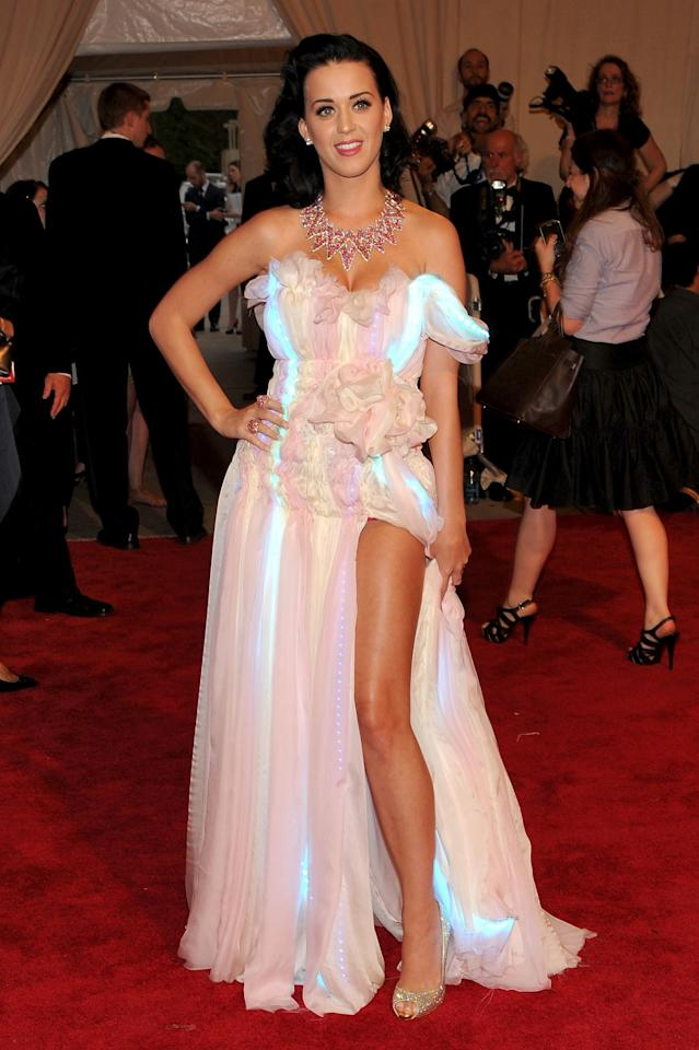 """<p>Katy Perry wore a CuteCircuit gown covered in 3,200 LED lights to the Costume Institute Gala Benefit for the opening of the """"American Woman: Fashioning a National Identity"""" exhibition at The Metropolitan Museum of Art on May 3, 2010 in New York City.</p>"""