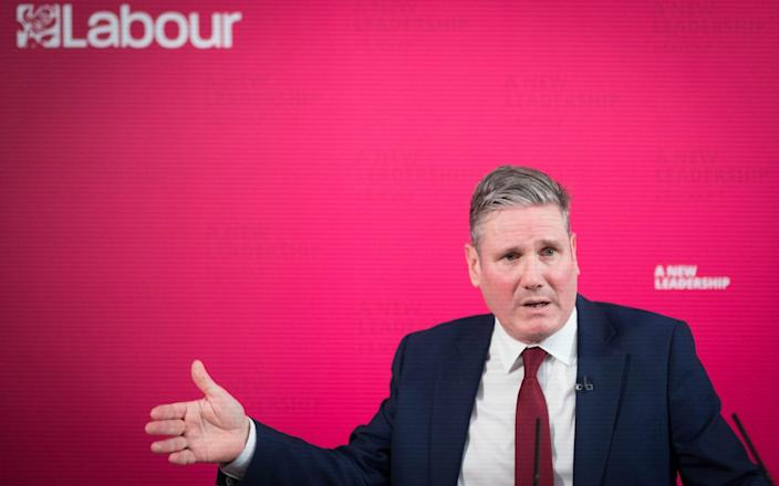 Labour leader Sir Keir Starmer delivers a virtual speech on Scotland, devolution and the United Kingdom -  Stefan Rousseau/PA