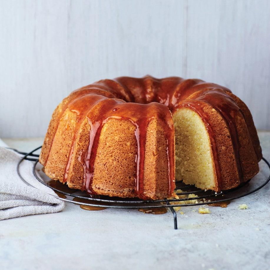 "Brighten up store-bought peach or apricot preserves with a hefty pour of lemon juice, then reduce it to a syrupy glaze to top off this tangy Easter bundt cake. <a href=""https://www.epicurious.com/recipes/food/views/lemon-buttermilk-bundt-cake-51147520?mbid=synd_yahoo_rss"" rel=""nofollow noopener"" target=""_blank"" data-ylk=""slk:See recipe."" class=""link rapid-noclick-resp"">See recipe.</a>"
