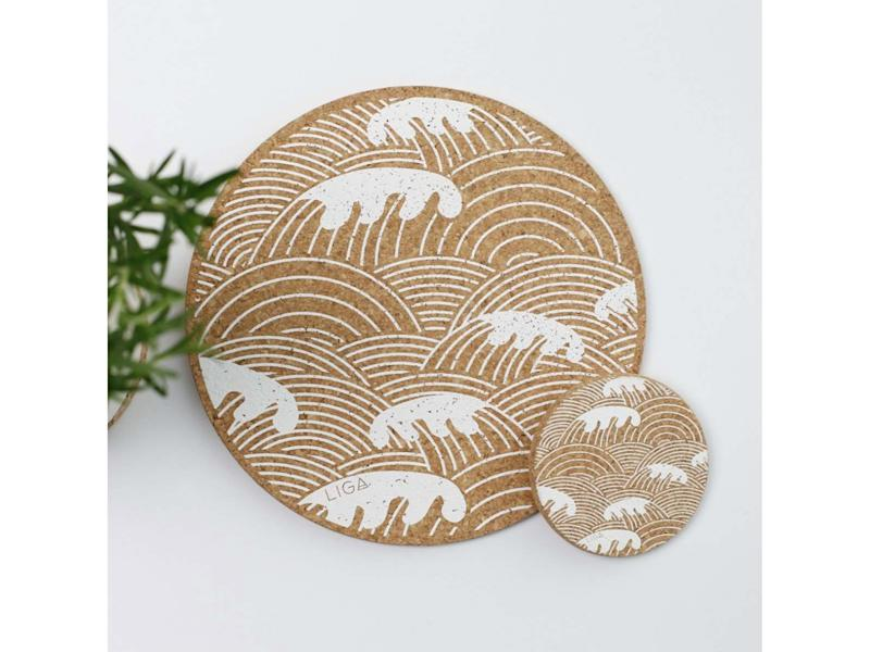 These statement mats are made from natural, sustainable corkGraham and Green