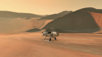 """<p>This <a href=""""https://www.nasa.gov/press-release/nasas-dragonfly-will-fly-around-titan-looking-for-origins-signs-of-life"""" rel=""""nofollow noopener"""" target=""""_blank"""" data-ylk=""""slk:highly anticipated mission"""" class=""""link rapid-noclick-resp"""">highly anticipated mission</a> to Saturn's icy moon, Titan. The rotorcraft is scheduled to launch in 2026 and is expected to arrive at Titan in 2034, when it will begin to study the moon's wide variety of environments. </p><p>Because Titan's atmosphere is so dense--four times that of Earth--Dragonfly will be able to carry its entire science payload to different locations around the ocean world for the 2.7-year mission. Titan has been likened to an early Earth analogue, so scientists hope the mission will inform our understanding of how life evolved here on our home planet.</p>"""