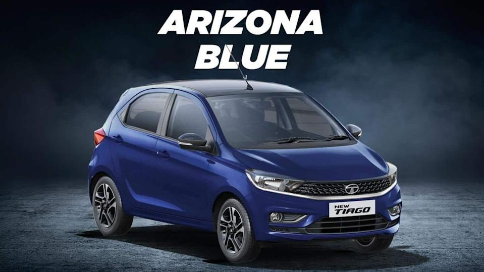 Tata Tiago hatchback now available in new Arizona Blue color
