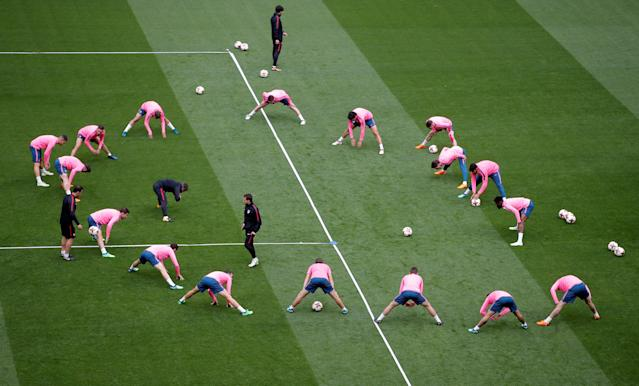 Soccer Football - Europa League Final - Atletico Madrid Training - Groupama Stadium, Lyon, France - May 15, 2018 General view during training REUTERS/Vincent Kessler