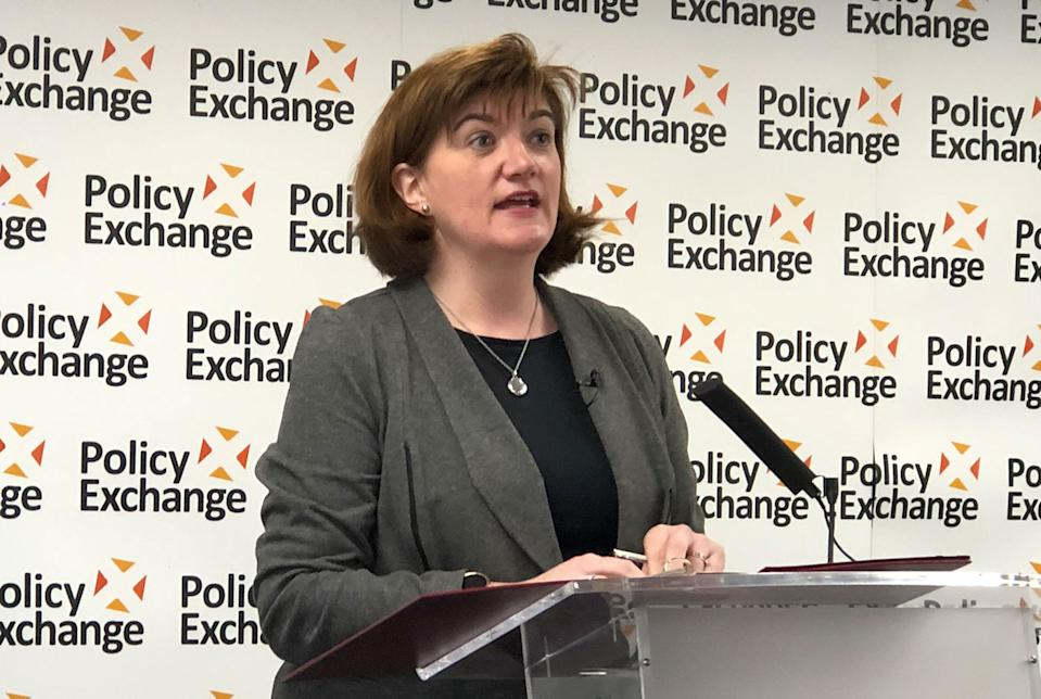 Nick Morgan speaking at Policy Exchange. (Yahoo News UK)
