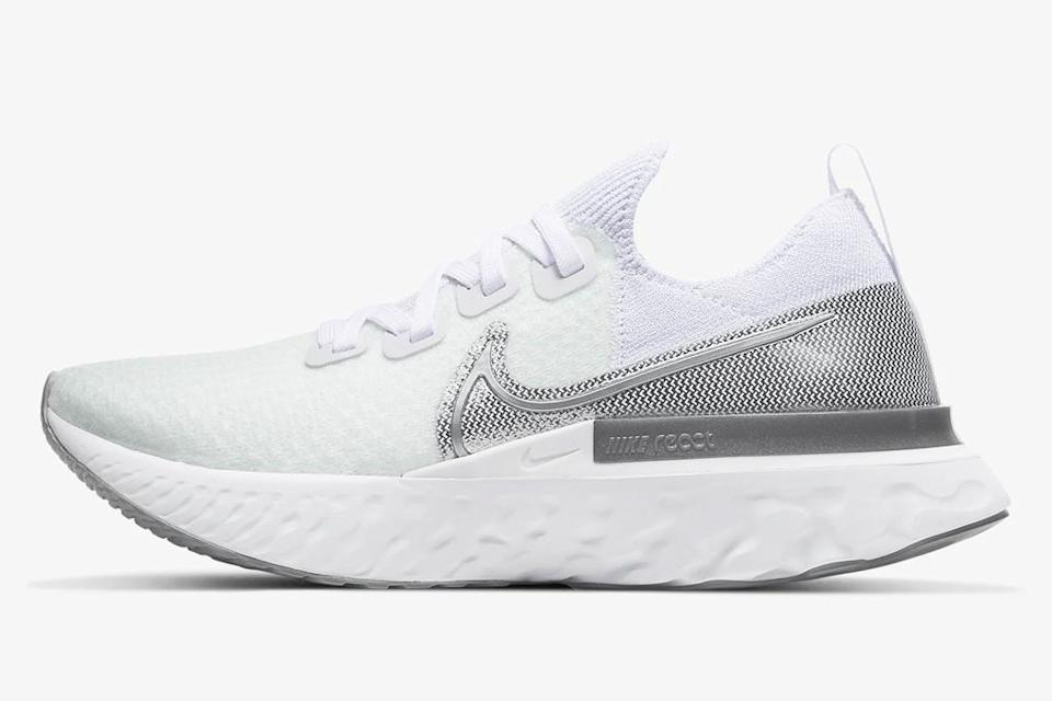 sneakers, running shoes, white, nike