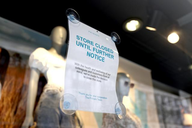 Primark closed its 189 UK shops in late March. (PA)