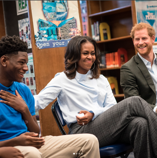 Prince Harry is due to make a speech at the inaugural Obama Foundation Summit. Photo: Instagram/Christopher Dilts/ The Obama Foundation