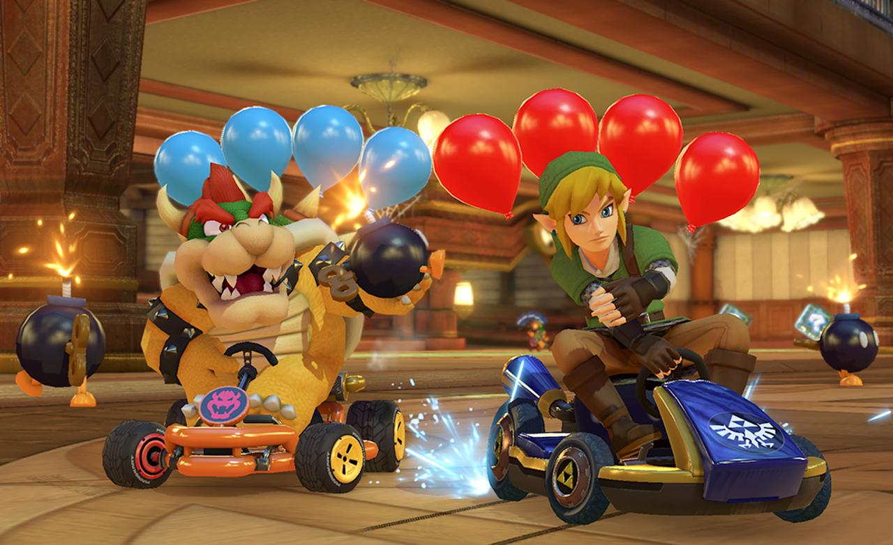 """<p>Since its 1992 debut, the <i>Mario Kart</i> franchise has sold more than 100 million units worldwide on Nintendo systems ranging from the Super Nintendo to the Wii U. With the latest entry, <i><a rel=""""nofollow"""" href=""""https://www.amazon.com/Mario-Kart-8-Deluxe-Nintendo-Switch/dp/B01N1037CV/ref=sr_1_2?s=videogames&ie=UTF8&qid=1492726110&sr=1-2&keywords=mario+kart+8+deluxe"""">Mario Kart 8 Deluxe</a>, </i>racing to the <a rel=""""nofollow"""" href=""""https://www.amazon.com/Nintendo-Switch-Gray-Joy-Con/dp/B01LTHP2ZK/ref=sr_1_3?s=videogames&ie=UTF8&qid=1492726165&sr=1-3&keywords=nintendo+switch"""">Switch</a> on April 28, EW takes a lap down memory lane with a look at every game in the series (we're not counting the Namco-developed arcade versions). Buckle up, grab a red shell, and speed through the past 25 years of kart-racing history.</p>"""