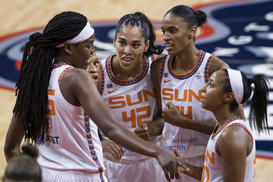 The Connecticut Sun have been planted at the top of the WNBA Commissioner's Cup standings. (Scott Taetsch/Getty Images)