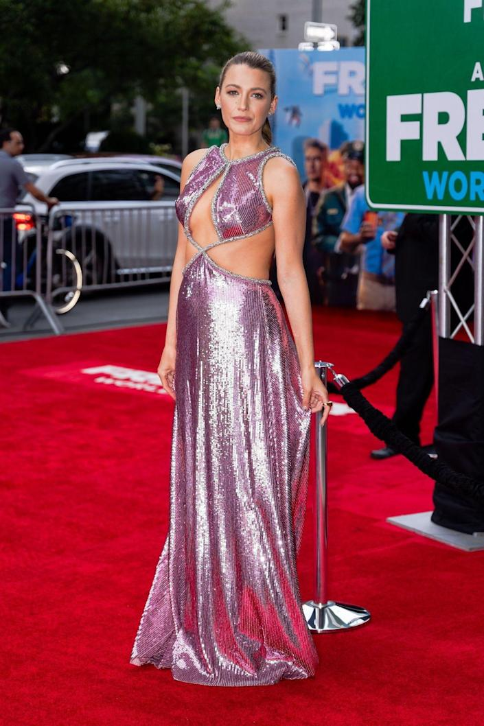 """Blake Lively at the """"Free Guy"""" premiere in New York City on August 3, 2021."""