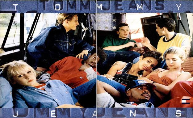 Kimberly Stewart, Balthazar Getty, Kidada Jones, and Ivanka Trump in a Tommy Jeans ad.