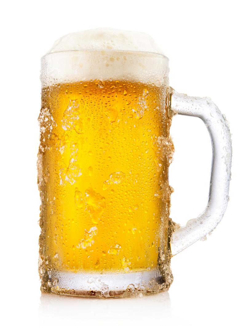 mug of chilled beer
