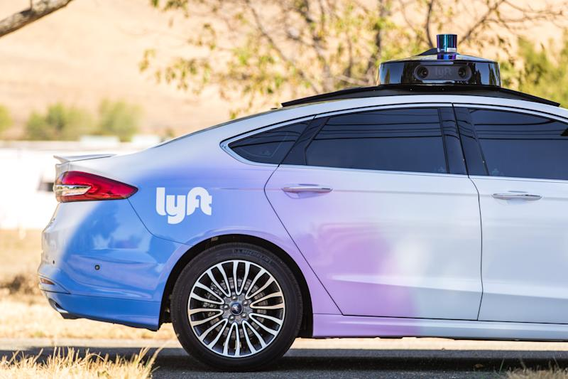 Lyft self-driving Ford Fusion