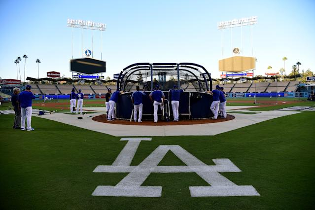 Dodger Stadium is forecasted to host the hottest World Series game ever Tuesday. (Getty Images)