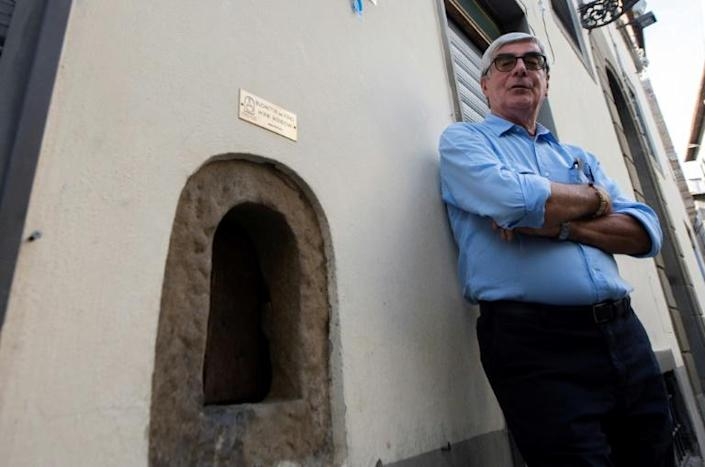 Massimo Casprini, 78, who has written a book on the little windows, says that, historically, the customer would knock and have their bottle filled, with no direct contact