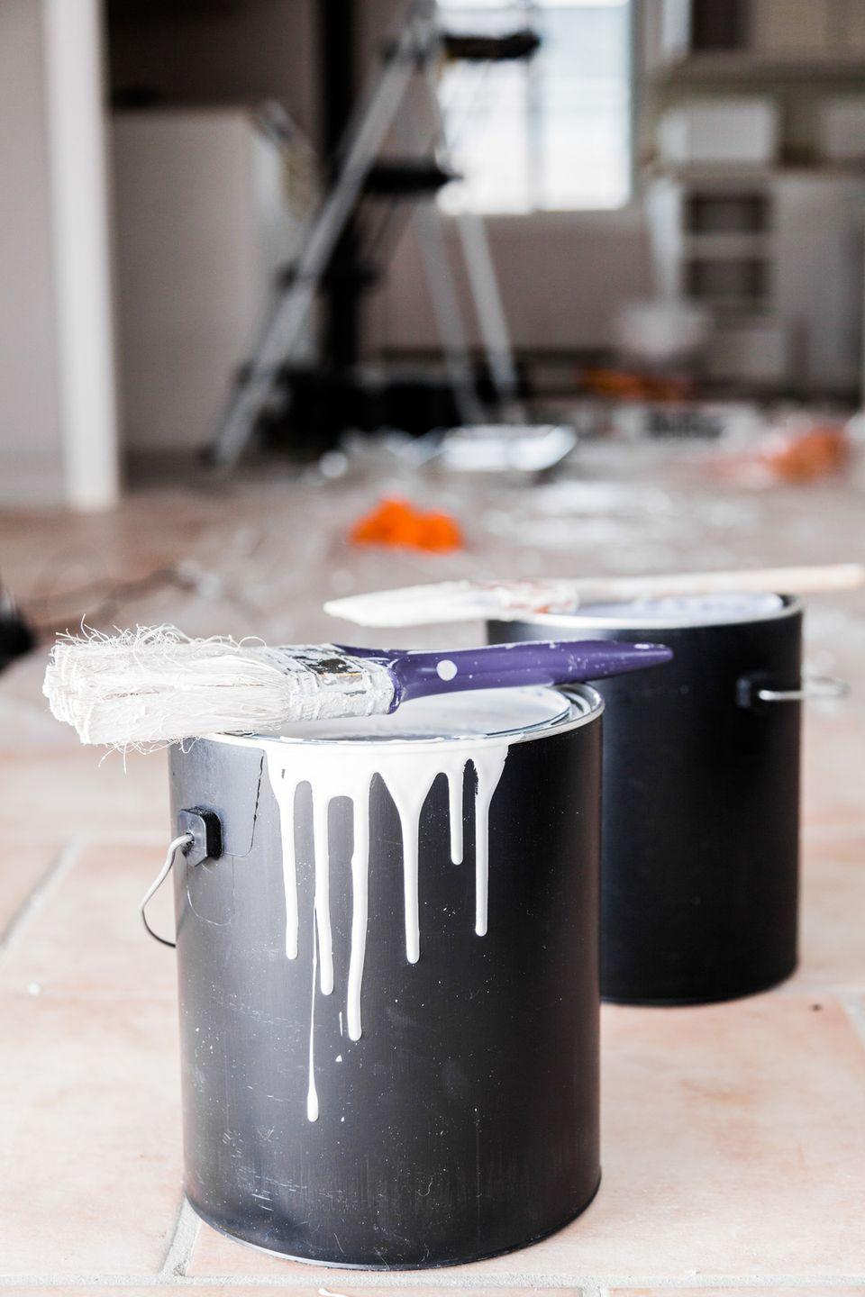 "<p>You've dutifully kept it in your garage after painting the living room. But even if it hasn't dried out completely, it's likely to no longer match the room — wall paint can lighten or darken over time depending on the formula or environment. <a href=""https://www.goodhousekeeping.com/home/cleaning/tips/a24186/throwing-out-paint/"" rel=""nofollow noopener"" target=""_blank"" data-ylk=""slk:Here's how to properly kid rid of it."" class=""link rapid-noclick-resp"">Here's how to properly kid rid of it.</a></p>"