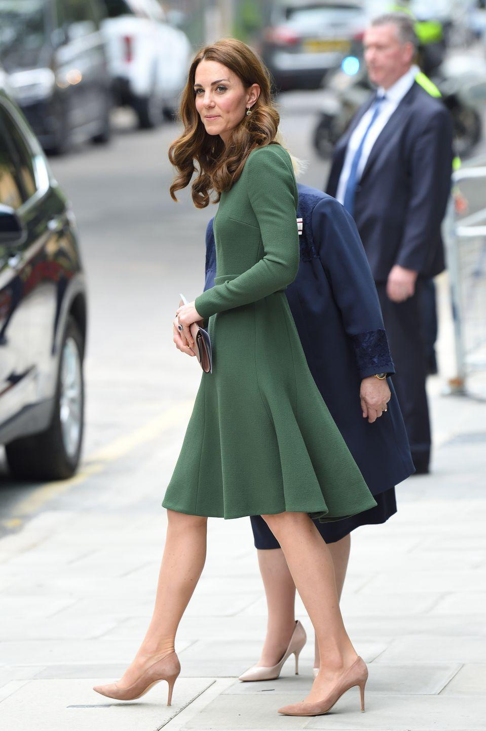 <p>Royal functions mean fancy attire, so that usually means women wear heels. Kate Middleton spends a lot of time walking around in sky-high footwear.</p>